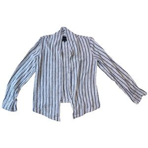 Sanctuary Linen Striped Jacket Blazer Lightweight